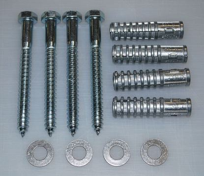 """Picture of 5"""" Lag Bolt and Shield Kit (4 per kit)"""