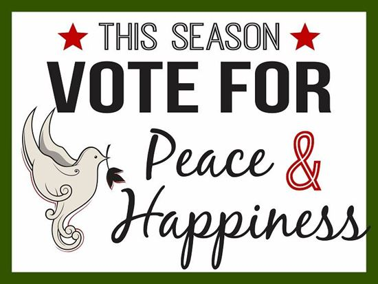 Picture of Vote For Peace...24x18 Double Sided Coroplast Yard Sign