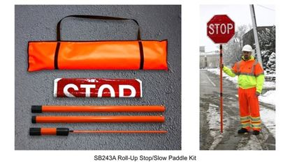 """Picture of Roll Up 24"""" Stop/Slow Paddle Kit"""