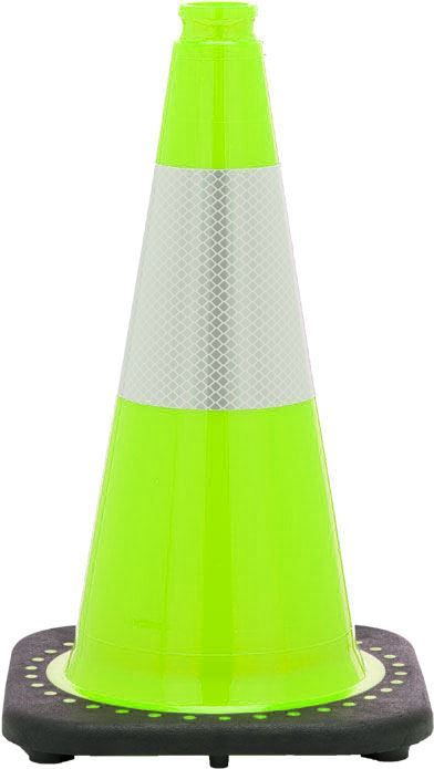 """Picture of 18"""" Cone Lime Reflective"""