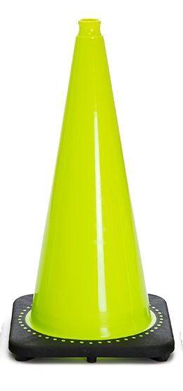 "Picture of 28"" Cone Lime Non-Reflective"