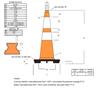 """Picture of 28"""" Cone Orange Trim Line Reflective"""