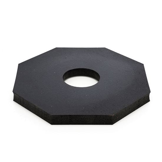Picture of Octagonal Delineator Post Rubber Base - 12 lb