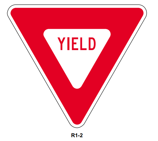 """Picture of 36"""" Yield Sign"""