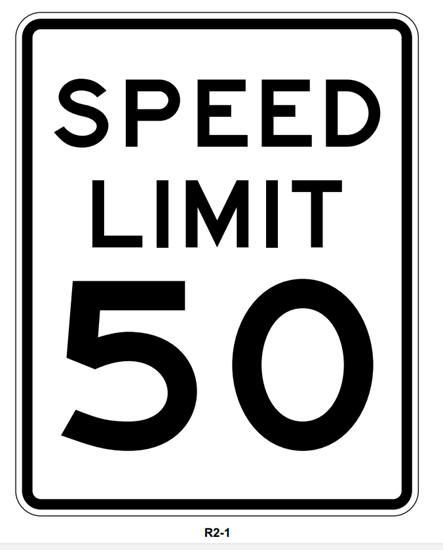 "Picture of 24""x30"" Speed Limit Sign"