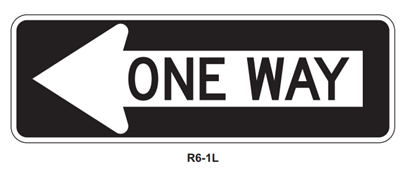 """Picture of 36""""x12"""" One Way Left"""