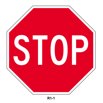 """Picture of 24"""" Stop Sign"""