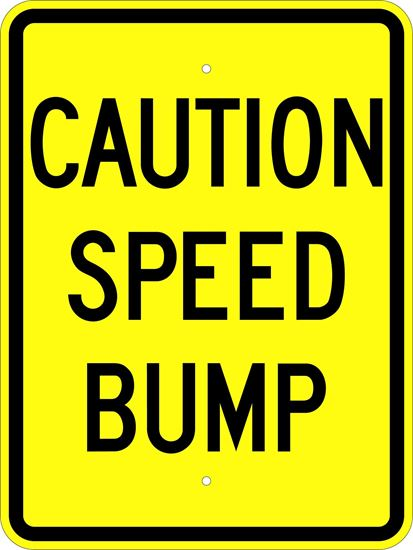 """Picture of 18""""x24"""" Caution Speed Bump"""