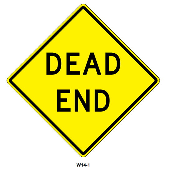 """Picture of 24""""x24"""" Dead End"""