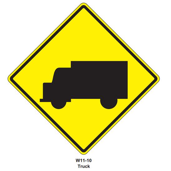 """Picture of 30""""x30"""" Trucks Symbol"""