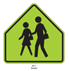 """Picture of 30"""" School Crossing- Yellow or FYG"""