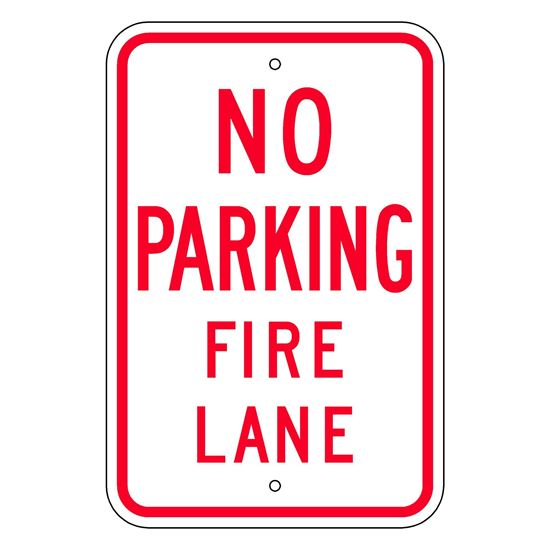 Picture of No parking fire lane