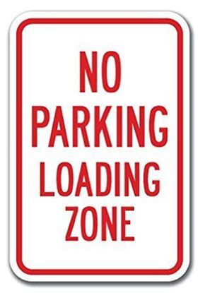 Picture of No parking loading zone