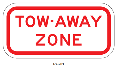 Picture of Tow-Away Zone