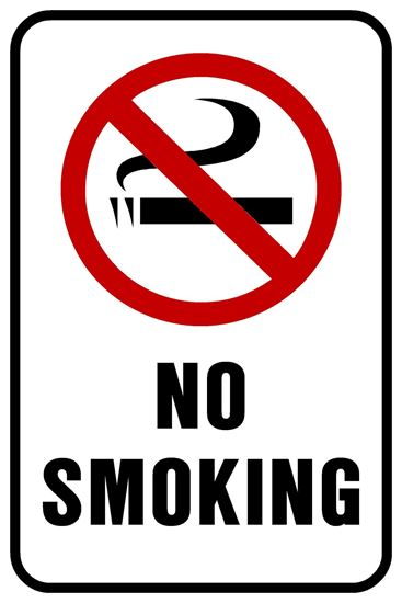 """Picture of 12""""x18"""" No Smoking"""