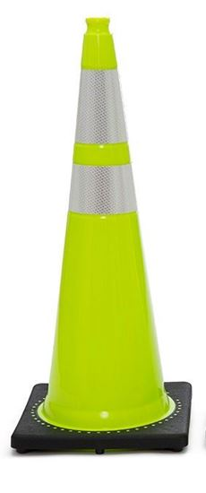 """Picture of 36"""" Cone Lime Reflective"""