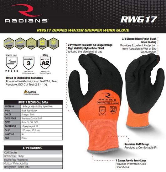 Picture of High visibility gloves RWG 17