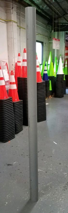 """Picture of Steel Bollard - 84"""" x 4"""" Primed unfilled"""
