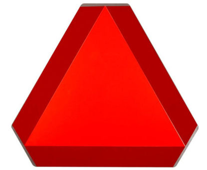 """Picture of 14"""" Slow Moving Vehicle  Placard Aluminum - SMV"""